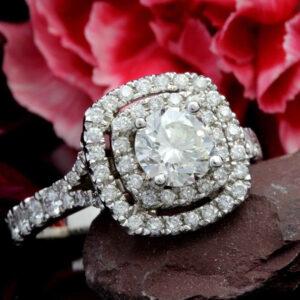 double halo diamond rings