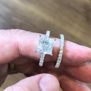 princess cut rings