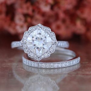 diamond bridal ring set