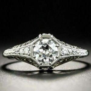 octagon diamond ring