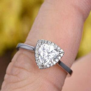 trillion cut diamond ring