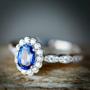 halo sapphire engagement rings