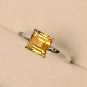 vintage canary diamond ring