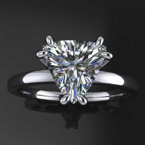 trillion cut diamond rings