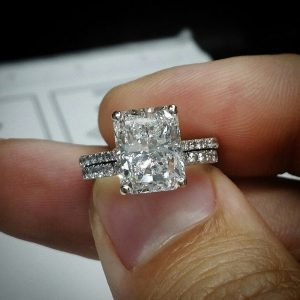 radiant cut engagement ring