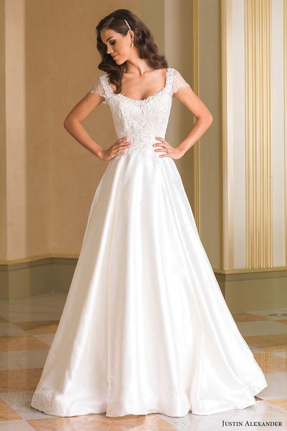 Scoop Neck Wedding Gown
