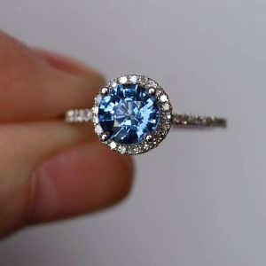 solitaire halo ring