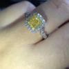 yellow engagement ring