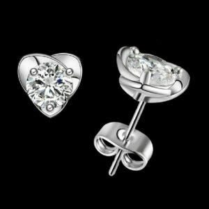 Diamond Solitaire Stud Earrings