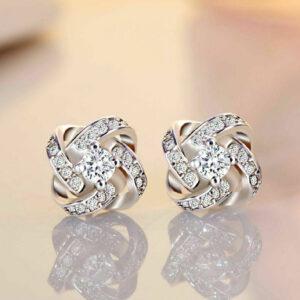 Diamond Start Stud Earrings