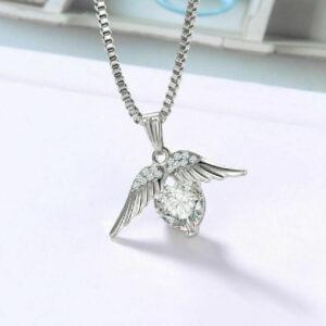 Diamond Angle Wing Pendant