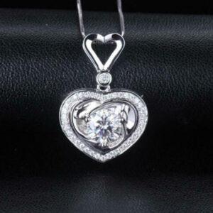 Beautiful Diamond Halo Pendant
