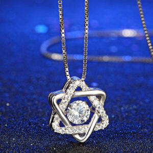 Diamond Pendant Star of David