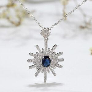 Blue Sapphire Pendant Chain