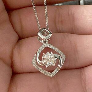 Diamond Fancy Pendant With Chain