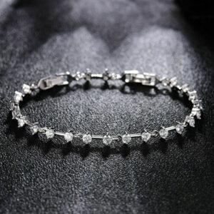 Diamond Simple-Design Tennis Bracelets