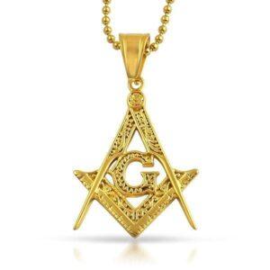 Fancy Masonic Mason Pendant