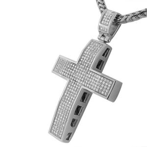 Hiphop Styled Cross Pendant