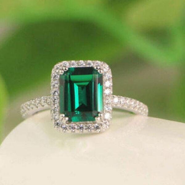 Emerald Green Wedding Ring