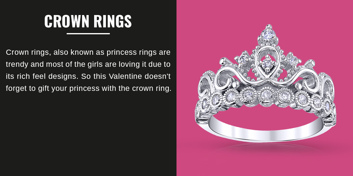 Crown rings/ Princess Rings top 10 Jewelry Gifts