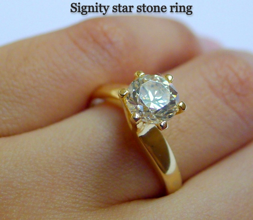 signity stone ring